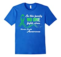 In This Family No One Fights Alone Tal Health T Shirt Royal Blue