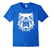 Pit Bull Face T For Pitbull And Apbt Lovers Shirts Royal Blue