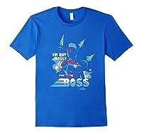 Captain Marvel I'm The Boss Space Blue Red Premium T-shirt Royal Blue