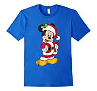 Disney Santa Mickey Mouse Holiday T-shirt Royal Blue
