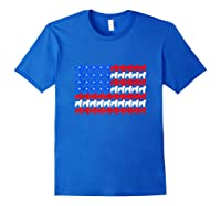 Goldendoodle 4th Of July Usa American Flag Patriotic Dog Shirts Royal Blue