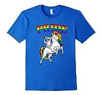 Koala Bear Unicorn Gay Pride Rainbow Q Cute Gift Shirts Royal Blue