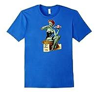 Zombie Pin Up Girl Baseball Shirts Royal Blue
