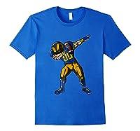 Football Dabbing T Shirt Funny Royal Blue Gold Navy Royal Blue