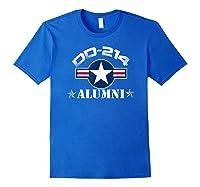 Dd-214 Alumni T-shirt Air Force & Royal Blue