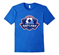 American Outlaw Soccer Game Fan Patriot Shirt Royal Blue