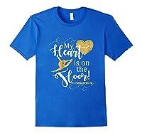My Heart Is On The Floor Gymnast Mom Gif #gymmom Shirts Royal Blue
