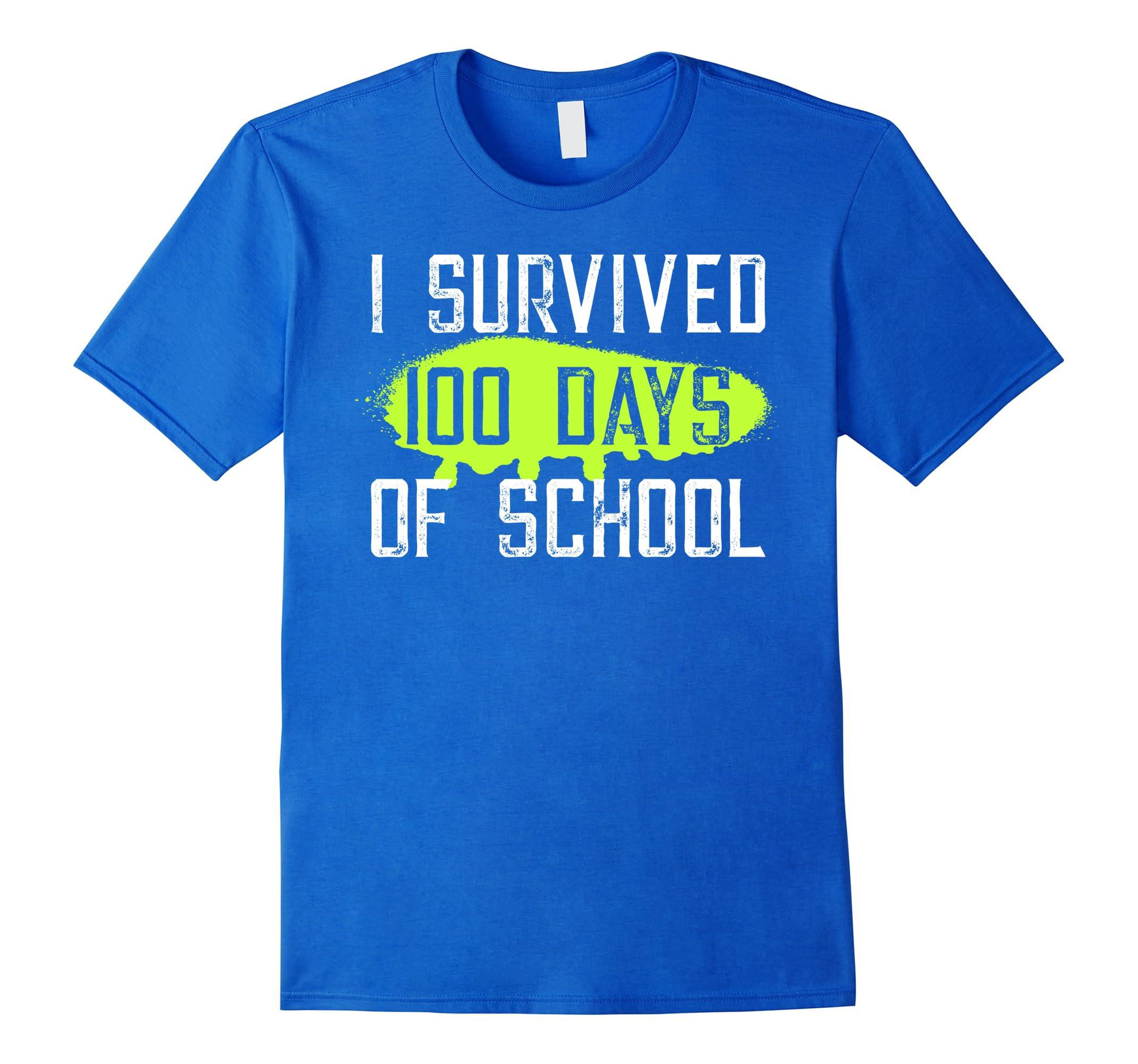 bd6ac495f6 I Survived 100 Days of School T-Shirt-ah my shirt one gift – Ahmyshirt