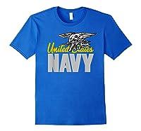 U.s. Navy Seals Team Gift Proud Usn Seal T-shirt Royal Blue