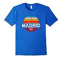 Vintage Madrid T Shirt Spain Souvenir T Shirt Royal Blue
