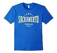 Vintage Sacrato Shirt Ca Home City Pride Distressed Royal Blue