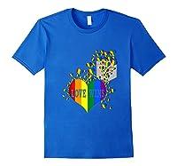 Love Wins Lgbtq Color Heart Pride Month Rally Shirt Tank Top Royal Blue