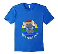 French Bulldog Gay Pride Lgtb Rainbow Flag Sunset Gay Gift T-shirt Royal Blue