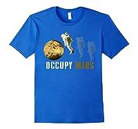 Occupy Mars T-shirt Royal Blue
