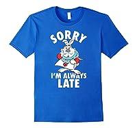 Disney Alice Always Late T Shirt Royal Blue