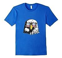 Patriotic Eagle American Flag Sunglasses Freedom Symbol Tank Top Shirts Royal Blue