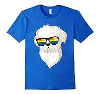 Havanese Face Rainbow Sunglasses Gay Pride Lgbt Tshirt Gifts Royal Blue