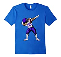Football Dabbing T Shirt Funny Purple Royal Blue