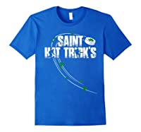 St Patricks Day Hockey T Shirt Saint Hat Trick S Day Funny Royal Blue