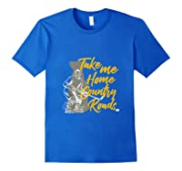Roads To Hockey Country Fan Take Me Home Top Gift Tank Top Shirts Royal Blue