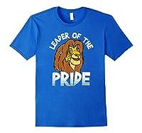 Lion King Adult Simba Leader Of Pride Graphic Shirts Royal Blue