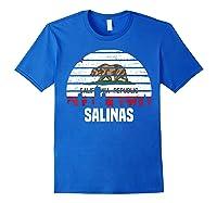 Salinas California T Shirt Ca Group City Silhouette Flag Tee Royal Blue