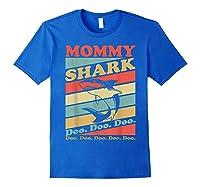 Retro Vintage Mommy Shark Grandma Mather's Day Gifts Shirts Royal Blue
