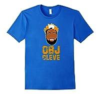 Football Obj Cleveland Shirts Royal Blue