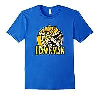 Justice League Hawkman Circle T Shirt Royal Blue