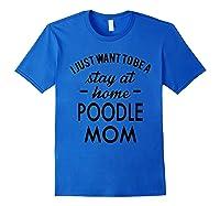 Poodle Dog Shirt Royal Blue