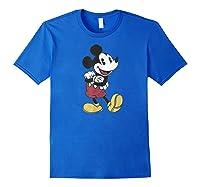 Disney Mickey Mouse Happy T Shirt Royal Blue