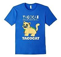 Tacocat Spelled Backwards Taco Cat Tacos Food Shirts Royal Blue