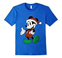 Disney Christmas Mickey Mouse T Shirt Royal Blue