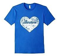 I Love Massachusetts Shirt Funny Cute Boston Gift Souvenir Royal Blue