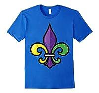 Fleur De Lis Mardi Gras Cute Fat Tuesday Funny Gift Shirts Royal Blue
