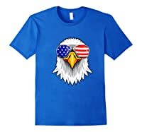 Patriotic Eagle 4th Of July Usa American Flag Sunglasses Premium T-shirt Royal Blue