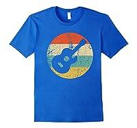 Guitaris Retro Acoustic Guitar Shirts Royal Blue