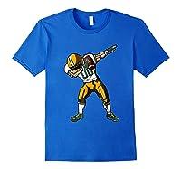 Football Dabbing T Shirt Funny Green Yellow Royal Blue