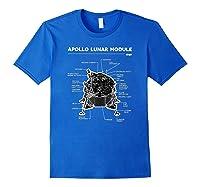 Lunar Module First Moon Landing 1969 T Shirt Royal Blue
