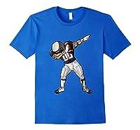 Football Dabbing T Shirt Funny Blue Gray Red Royal Blue