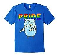 Flossing Owl Lesbian Bisexual Gay Lgbt Pride Gifts Shirts Royal Blue