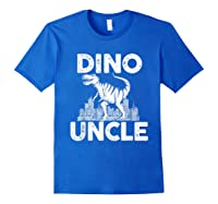 Dino-uncle Dinosaur Family Matching T-shirts Royal Blue