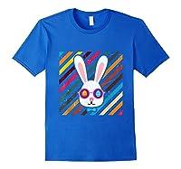 Funny Techno Rabbit Easter Edition Shirt Easter Celebration Royal Blue