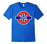 London Uk T Shirt Fun English British City Travel Gift Royal Blue