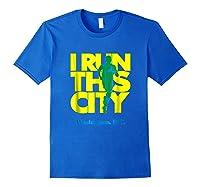 I Run This City Washington D C Apparel For Marathon Runner Shirts Royal Blue