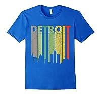Retro Detroit Vintage Detroit Skyline Shirts Royal Blue