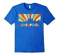 Liverpool T Shirt England Vintage Skyline Souvenirs Shirt Royal Blue