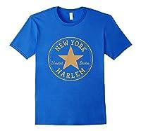 New York City Harlem Nyc Usa United States T Shirt Royal Blue