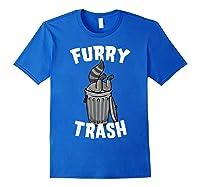 Furry Trash Bandit Raccoon Fandom Furries Tail T Shirt Gifts Royal Blue
