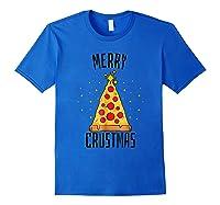 Merry Crustmas Pizza Pizza Lover Christmas Tree Shirts Royal Blue